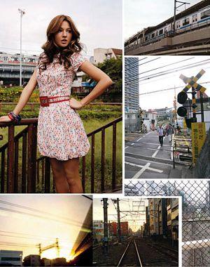 时装模特 震撼瞬间 >> 正文内容    桥本丽香这个混血美女,穿着歌莉娅